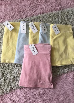 Велюровая юбка-шорты bila london5 фото