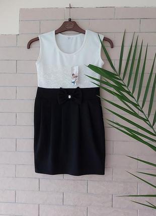 Нове! плаття на дівчинку. сукня.🤍🖤чорно- біле плаття.турція.плаття 140-146 см.