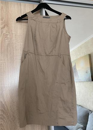 Платье котон бежевое беж