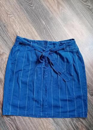 Класна джинсова спідниця,великого розміру