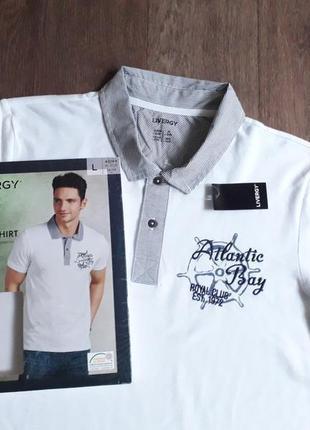 Оригинальное мужское поло 👍 тенниска  футболка p. м 48/50 livergy германия