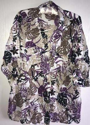 Батистовая блуза canda р 52-56
