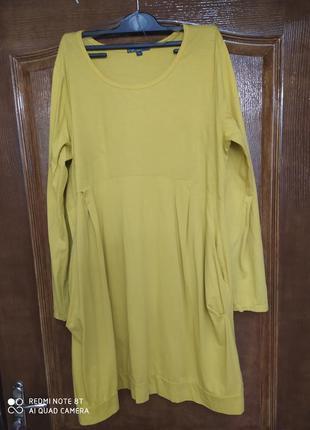 Tqf италия оригинальное стильное платье р.40-50 оверсайз пог 56см