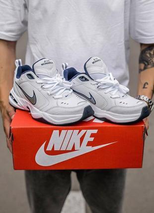 Nike monarch white\blue  кроссовки спортивные монарх