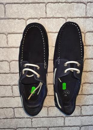 Стильные замшевые туфли-топсайдеры doc(испания)2 фото