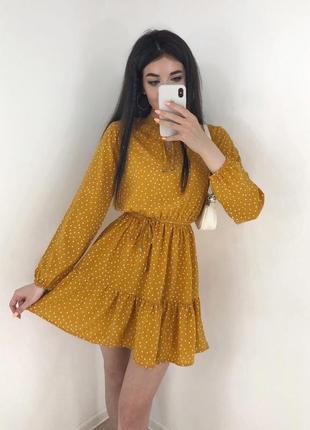 Платье горчичное🔥🔥🔥