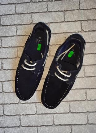 Стильные замшевые туфли-топсайдеры doc(испания)3 фото