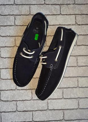 Стильные замшевые туфли-топсайдеры doc(испания)