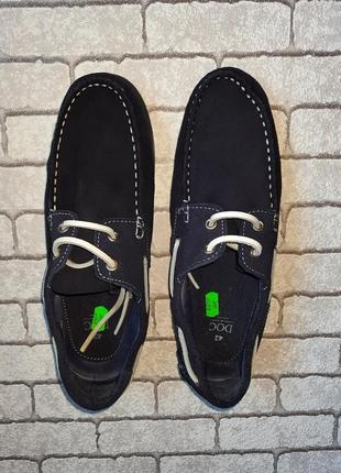 Стильные замшевые туфли-топсайдеры doc(испания)4 фото