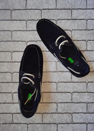 Стильные замшевые туфли-топсайдеры doc(испания)5 фото