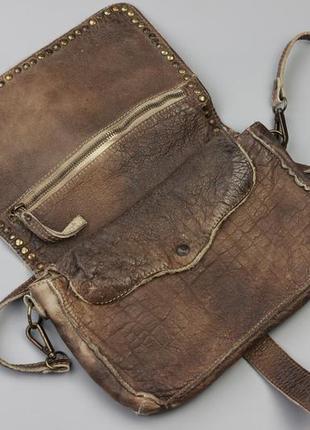 Фирменная кожаная сумка через плечо bull&hunt3 фото