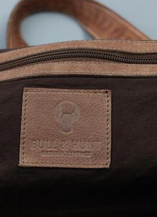Фирменная кожаная сумка через плечо bull&hunt5 фото