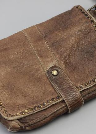 Фирменная кожаная сумка через плечо bull&hunt2 фото