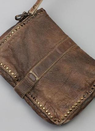 Фирменная кожаная сумка через плечо bull&hunt4 фото