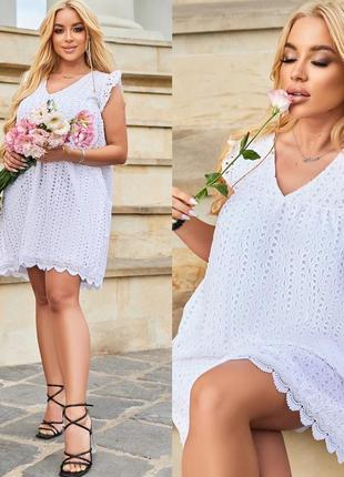 Платье летнее женское батал короткое мини легкое нарядное черное белое