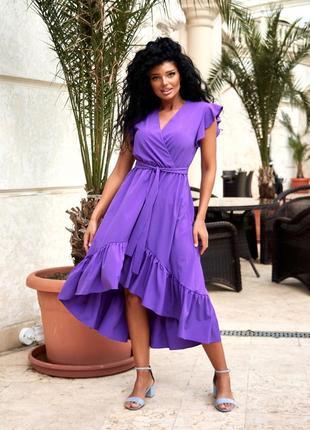 Женское платье миди по колено