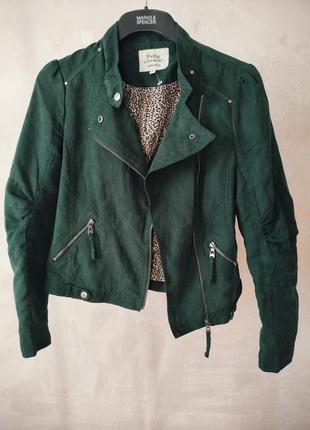 Женская модная куртка курточка косуха под замшу