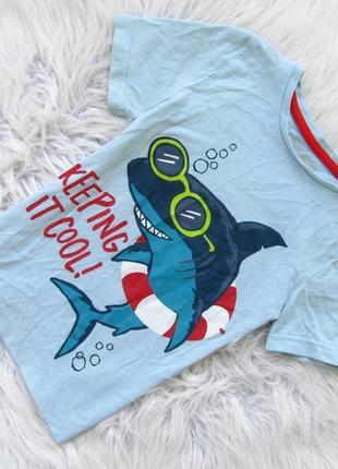 Стильная футболка nutmeg акула