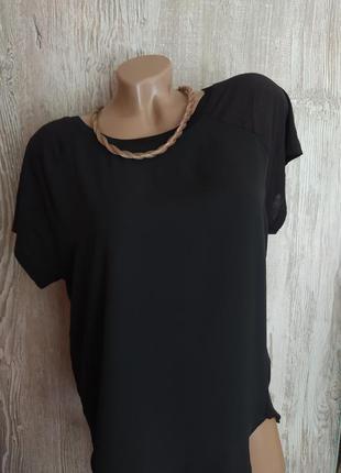 Базовая комбинированная блузка, футболка new look размер 16