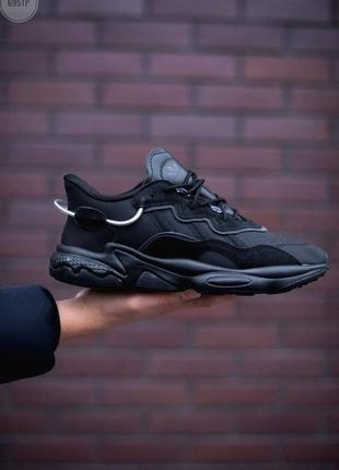 Шикарные мужские кроссовки adidas ozweego black чёрные наложенный платёж2 фото