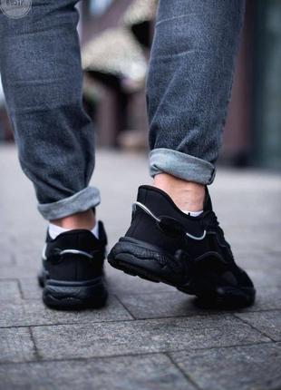 Шикарные мужские кроссовки adidas ozweego black чёрные наложенный платёж4 фото