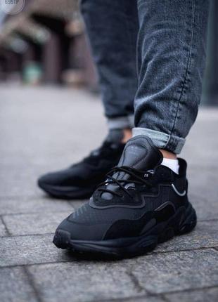 Шикарные мужские кроссовки adidas ozweego black чёрные наложенный платёж5 фото