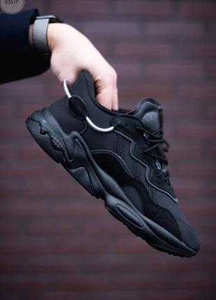 Шикарные мужские кроссовки adidas ozweego black чёрные наложенный платёж6 фото