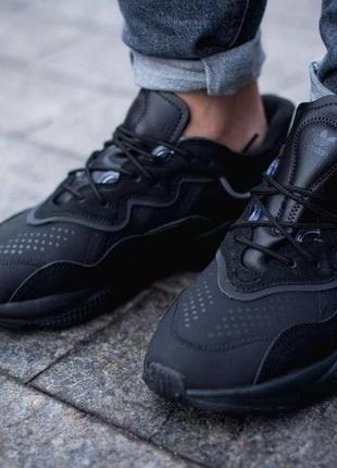 Шикарные мужские кроссовки adidas ozweego black чёрные наложенный платёж8 фото