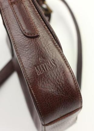 Фирменная кожаная сумка крос боди matras2 фото