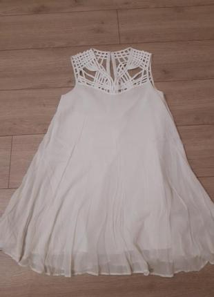 Шелковое платье, туника, шелк/котон