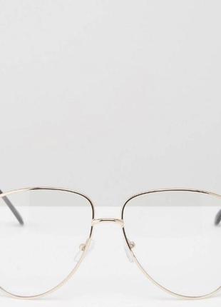 Очки оправа авиаторы asos в золотой оправе
