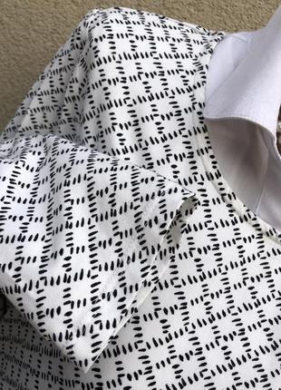 Белый,тонкий лонгслив в принт,кофта,джемпер,вискоза,большой размер2 фото