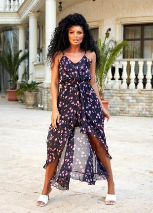 💓женское шифоновое платье миди 💓