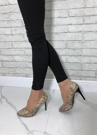36-40 рр туфли-лодочки натуральная кожа