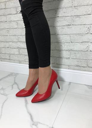 36-40 рр туфли-лодочки черные, красные натуральная кожа, замша4 фото