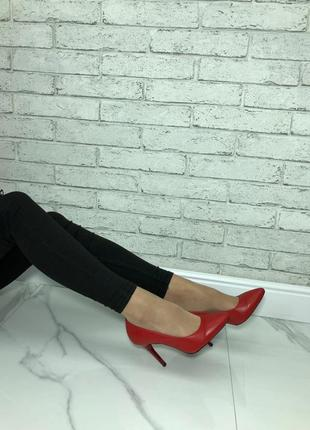 36-40 рр туфли-лодочки черные, красные натуральная кожа, замша5 фото