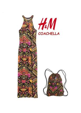 Платье h&m coachella вискоза +рюкзак новoe с бирками