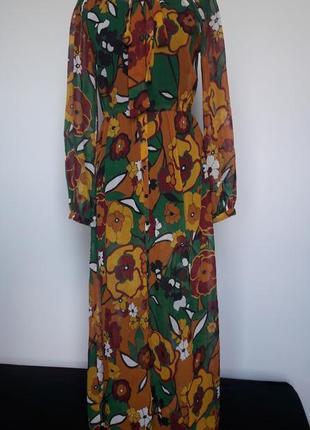 Оригинальное шифоновое платье indiska