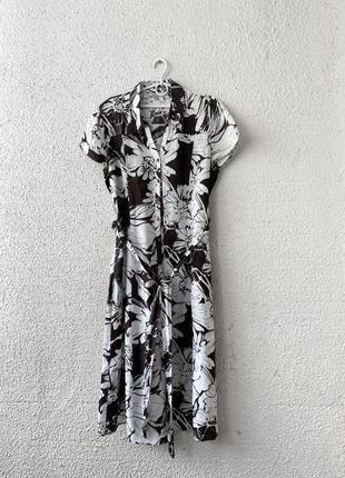 Натуральное платье миди