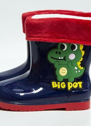 Гумові чоботи хлопчик/ детские резиновые сапоги