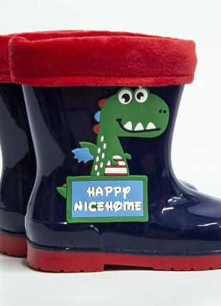 Гумові чоботи хлопчик / детские резиновые сапоги