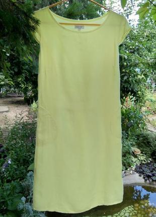 Невесомое льняное платье lina tomei (италия) 100% лён