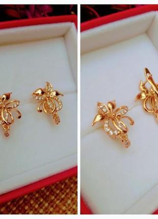 Сережки из медицинского золота