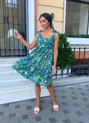 Короткое платье с повязкой. летний сарафан