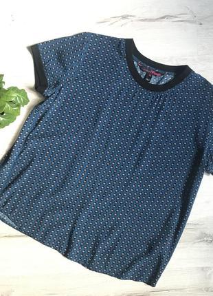 Женская футболка темно-синяя tom tailor разм. xl