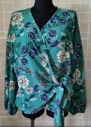 Новая блузка на запах, в цветочный принт, от primark