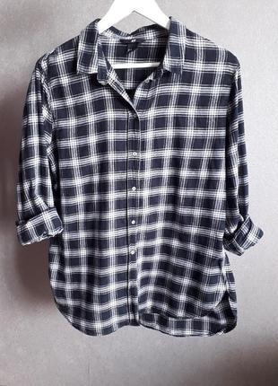 Рубашка в клетку  от h&m