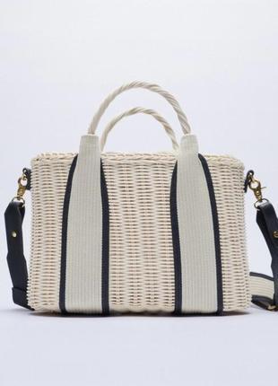Плетена сумка zara