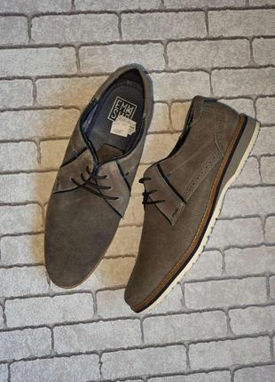 Стильные замшевые туфли emmshu (испания)