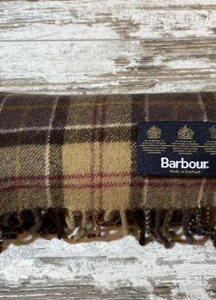 Шарф barbour клетка berberry berberrys кашемировый шерсть